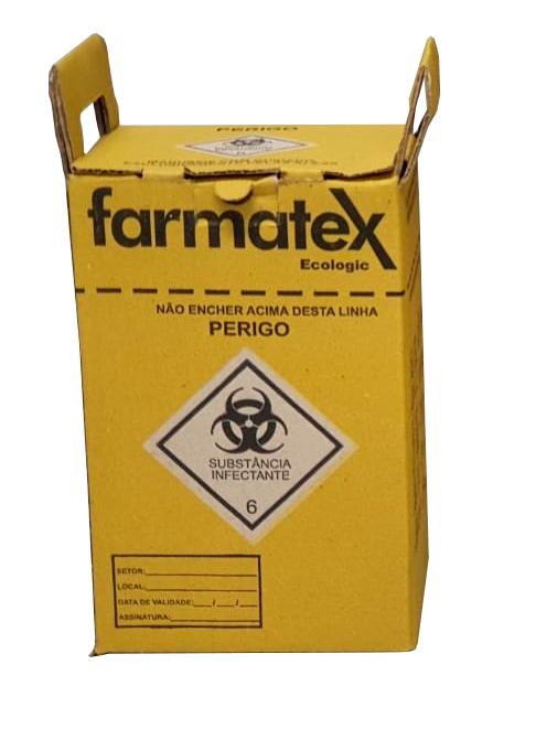 caixa para descarte material perfuro cortante 3 l