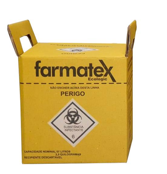 caixa para descarte material perfuro cortante 7 l