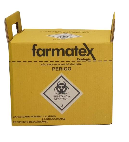 caixa para descarte material perfuro cortante 13l
