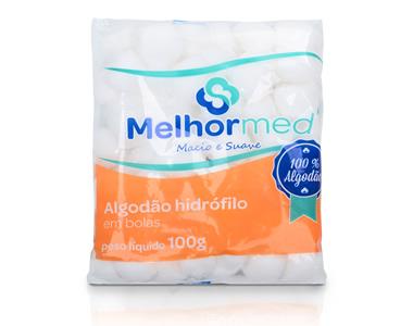 algodão hidrofilo em bolas 100 gr