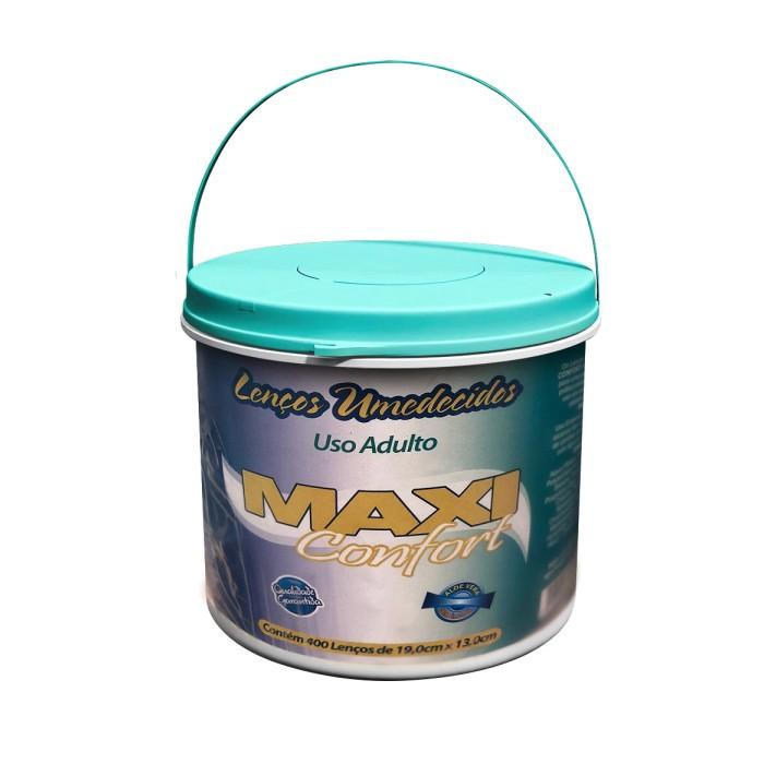 lenço umedecido maxi confort balde - 400 undades