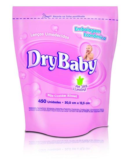 lenço umedecido drybaby refil c,  500 unid