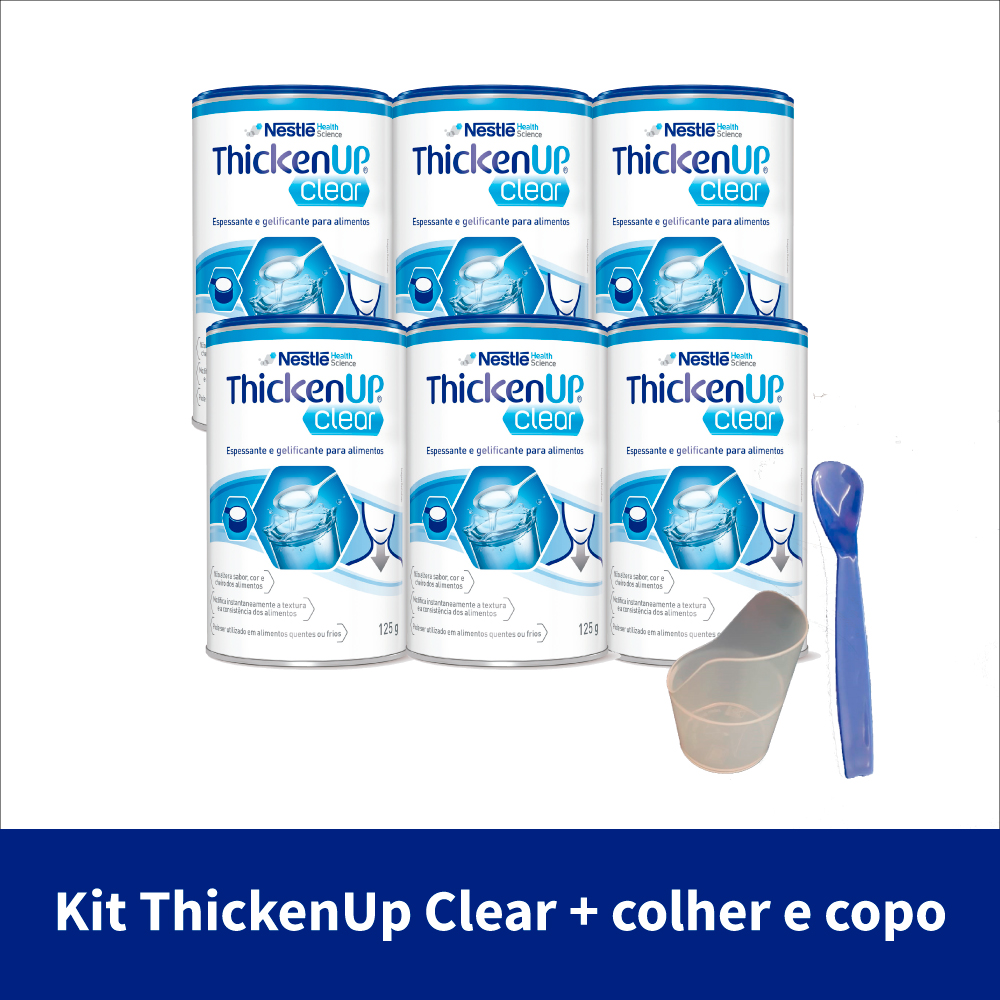 kit thickenup clear 125g com 6 latas