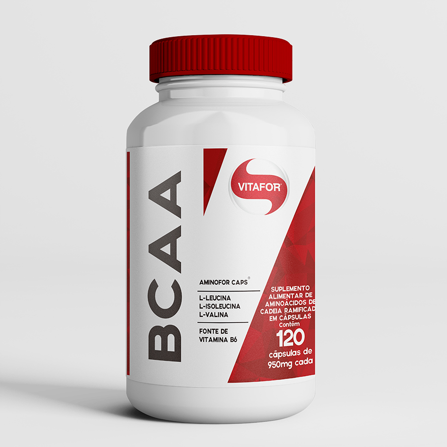 aminofor bcaa 120 cápsulas