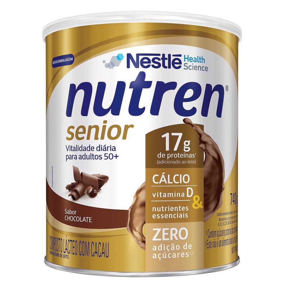 nutren senior pó chocolate 740 g
