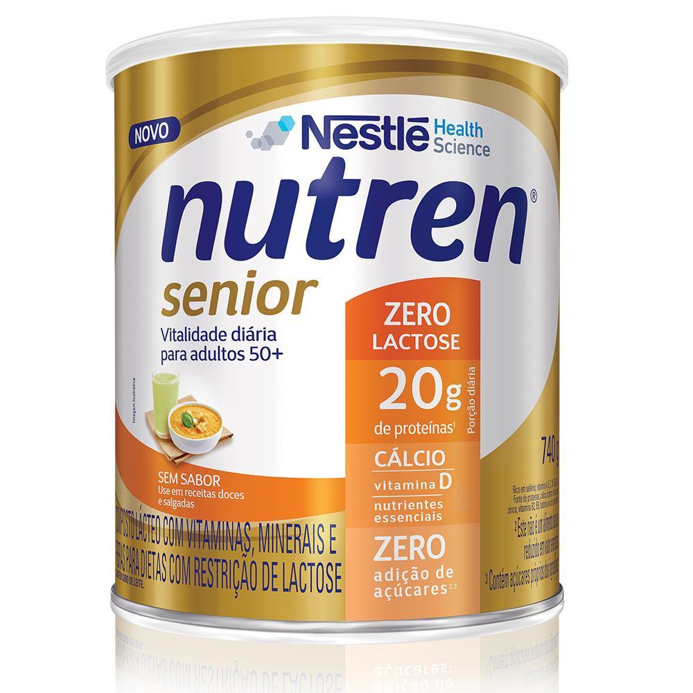 nutren senior po zero lactose s,  sabor 740 g